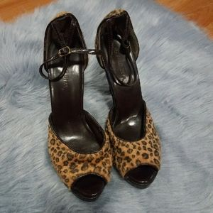Furry Animal Print Heels